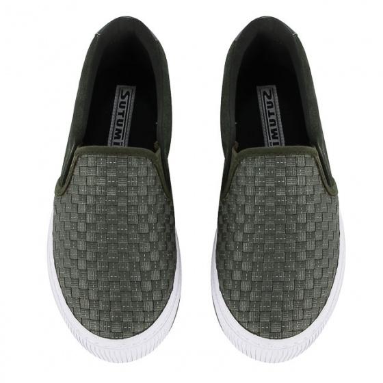 Giày lười nữ Sutumi W158 - Rêu
