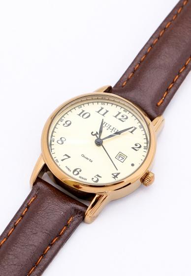 Đồng hồ nữ JA-508C JU1200 Julius Hàn Quốc dây da (Nâu)