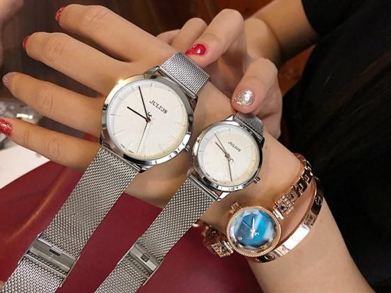 Đồng hồ nam Julius Hàn Quốc dây thép JA-982MA (Bạc)