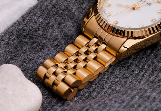 Đồng hồ nam JA-1069MD Julius Hàn Quốc dây thép (Vàng)