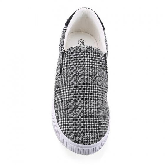 Giày lười nữ Sutumi W122- Caro xám
