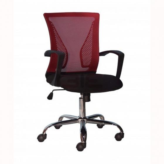 Ghế xoay IBIE IB8310 chân thép mạ màu đỏ