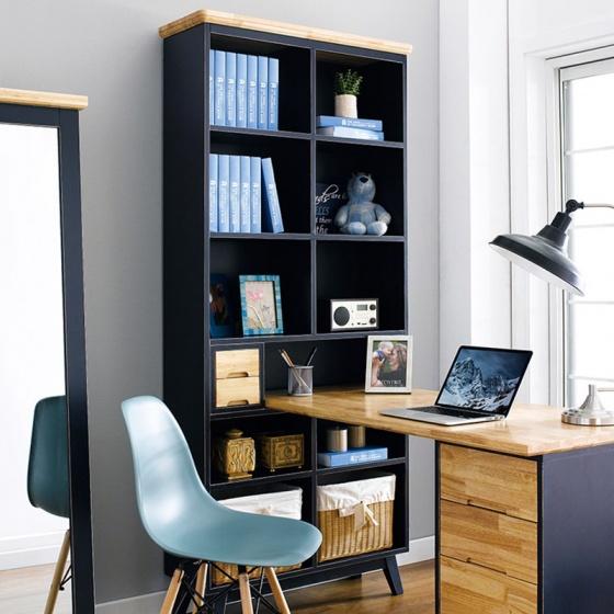 Bộ bàn liền kệ sách NB-Blue gỗ tự nhiên