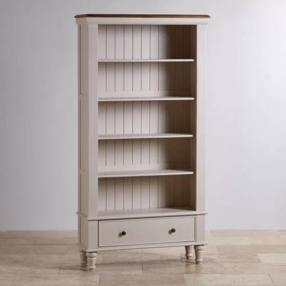 Tủ sách cao Shay gỗ sồi