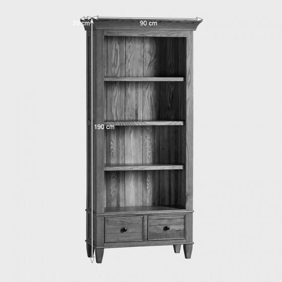 Tủ sách cao Classic gỗ sồi
