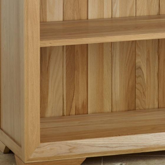 Tủ sách thấp Bevel gỗ sồi - IBIE