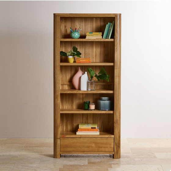 Tủ sách Romsey cao gỗ sồi