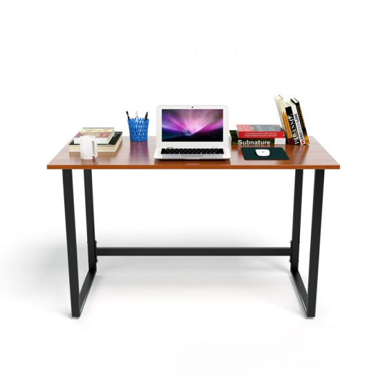 Bộ bàn Rec-F chân đen mặt cánh gián và ghế IB505 đen có tay