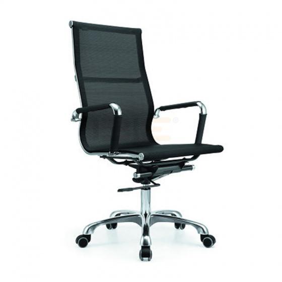 Bộ bàn Rec-Z chân trắng mặt cánh gián và ghế IB16A đen