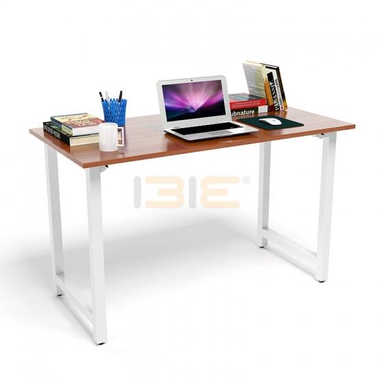 Bộ bàn Rec-T chân trắng mặt cánh gián và ghế IB16A đen
