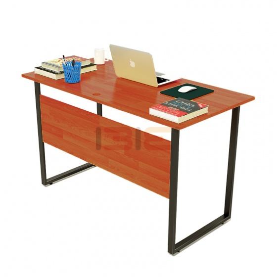 Bộ bàn Rec-F Plus chân đen mặt cánh gián và ghế IB505