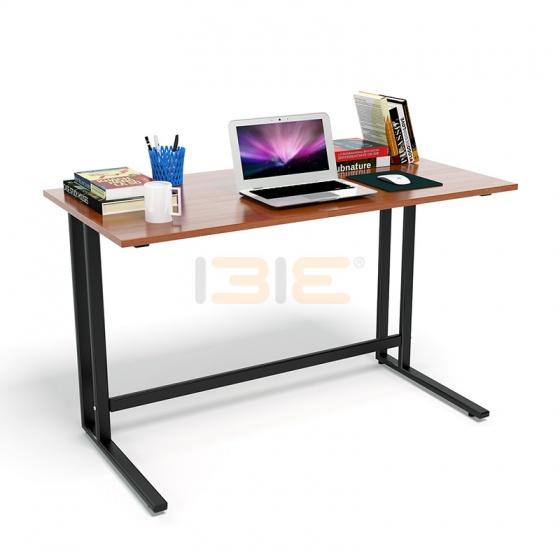 Bộ bàn Rec-U chân đen mặt cánh gián và ghế IB517 đen