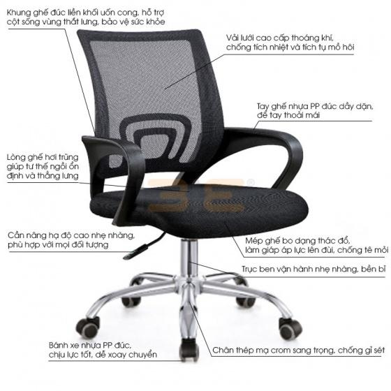 Bộ bàn Rec-F chân đen mặt cánh gián và ghế IB517 đen