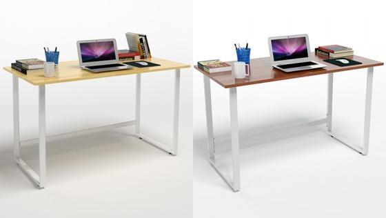 Bộ bàn Rec-F chân trắng mặt cánh gián và ghế IB517 đen