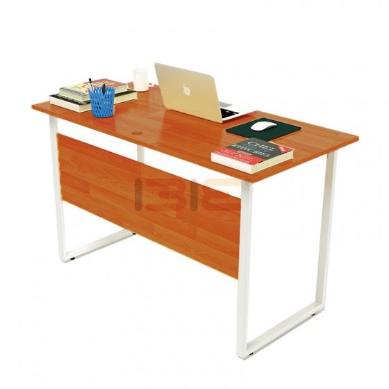Bộ bàn Rec-F Plus chân trắng mặt cánh gián và ghế IB505
