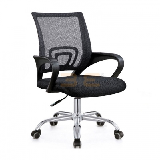 Bộ bàn Rec-U chân trắng mặt cánh gián gỗ cao su và ghế IB517 đen