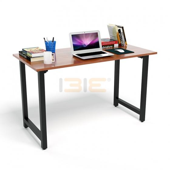 Bộ bàn Rec-T chân đen mặt cánh gián và ghế IB517 đen