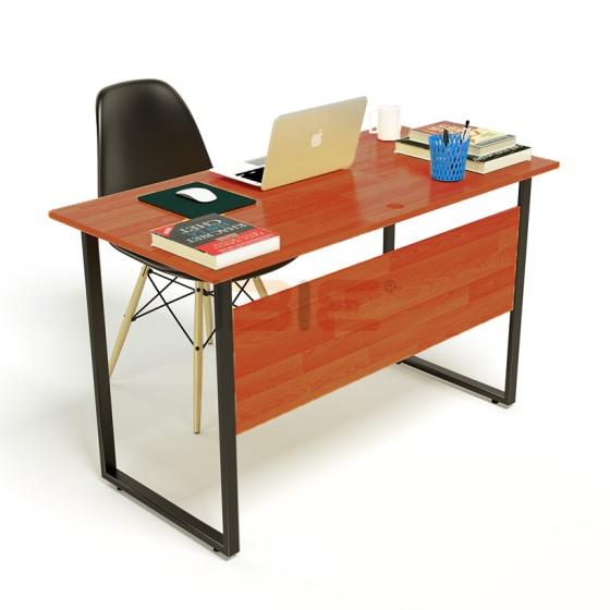 Bộ bàn Rec-F Plus chân đen mặt cánh gián và ghế Eames đen chân gỗ