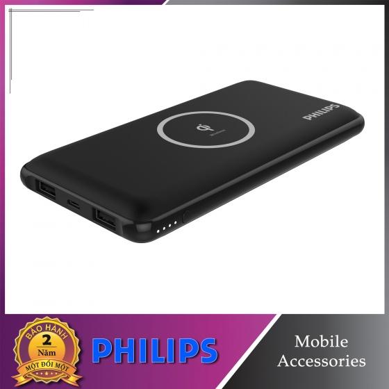 Sạc dự phòng kim sạc không dây Philips DLP9611 với công nghệ Qi