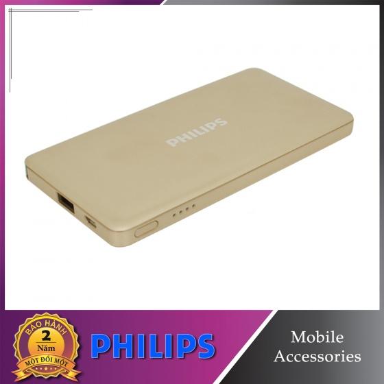 Pin dự phòng Philips DLP6101 10000mAh tích hợp cáp Micro USB + Lightning