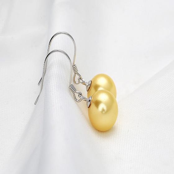 Bông tai bạc Pearl 8-9mm