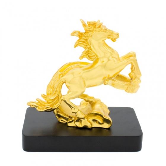Tượng ngựa vờn mây mạ vàng 24K