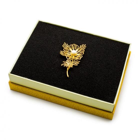Quà tặng cao cấp - hoa cài cáo mạ vàng 24K