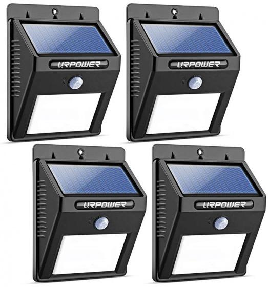 4 đèn cảm biến ánh sáng năng lượng mặt trời Urpower LU01