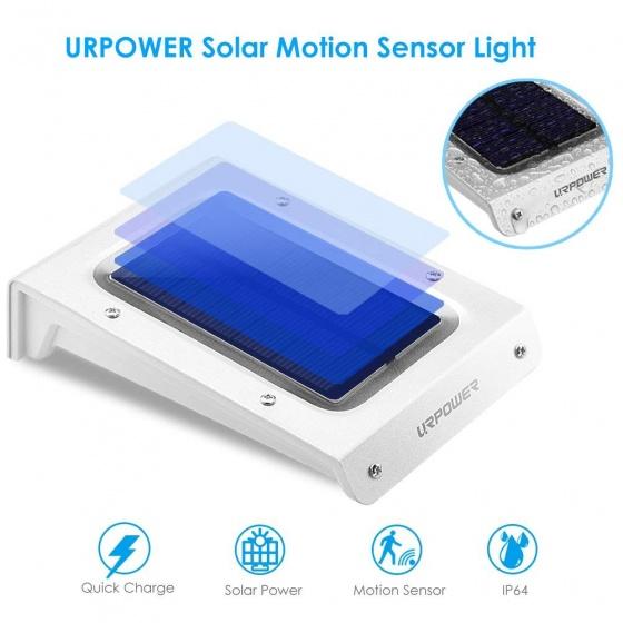 4 đèn cảm biến ánh sáng năng lượng mặt trời Urpower LU02
