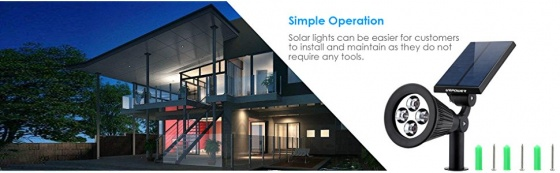 2 đèn cảm biến ánh sáng năng lượng mặt trời Urpower LU03