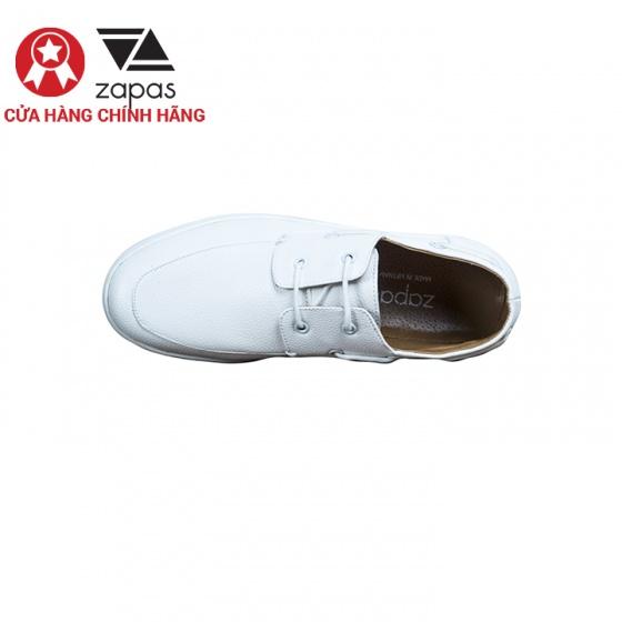 Giày lười nam thời trang Zapas GL006WH - Tặng balo du lịch Glado BLL013BU