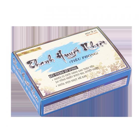 Bộ 6 hộp thanh huyết nhiệt công đức - Giúp giải độc gan thận, điều trị bệnh ngứa, mụn nhọt, mề đay 30 viên/hộp