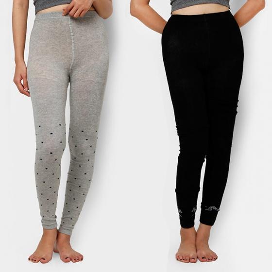 Combo 2 quần legging cao cấp (đen + xám)