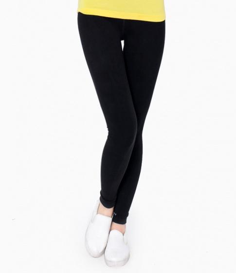 Quần legging nữ màu đen trơn