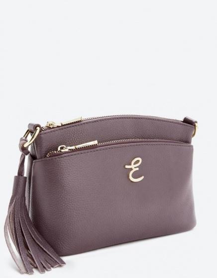 Túi xách tay nữ Edison Michael 8011#Purple (23 x 17 cm) - Tím