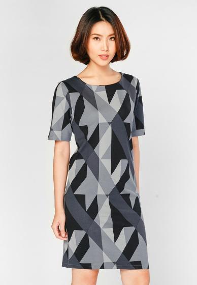 Đầm suông họa tiết HK 595