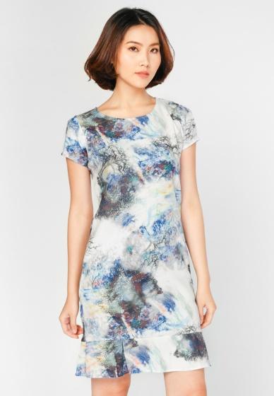 Đầm suông họa tiết HK 600