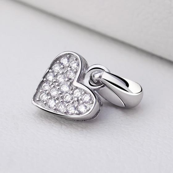 Mặt dây chuyền bạc Heart to Heart