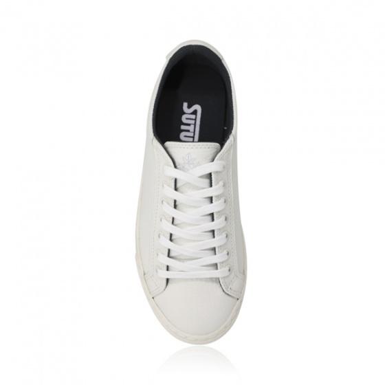 Giày sneaker nam Sutumi M1031 - Trắng da