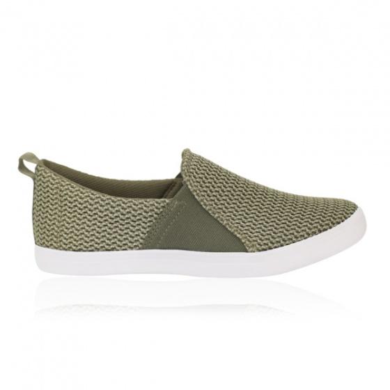 Giày lười nữ Sutumi F158 - Rêu