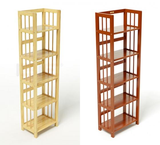 Kệ sách 5 tầng IBIE HB540 gỗ cao su màu cánh gián (40x30x150cm)