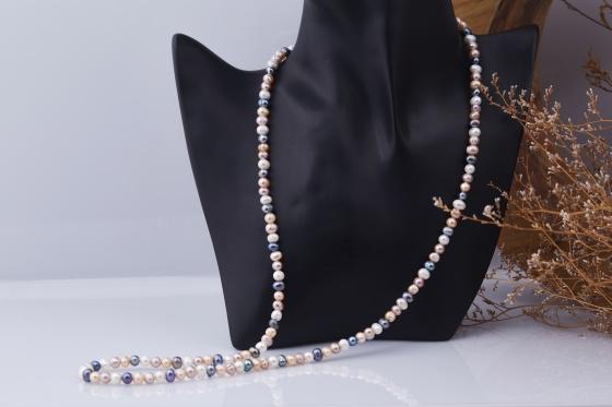 Opal - Vòng cổ ngọc trai tứ quý _T11