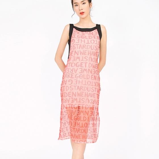 Đầm lưới hồng đào
