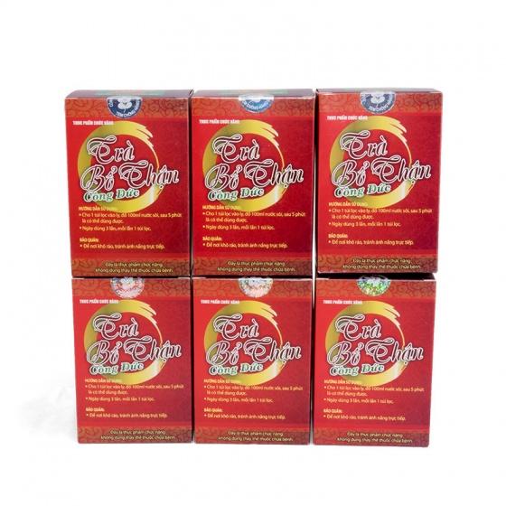 Bộ 6 hộp trà bổ thận công đức - Giúp bổ thận tráng dương, mạnh gân cốt 20 gói/Hộp