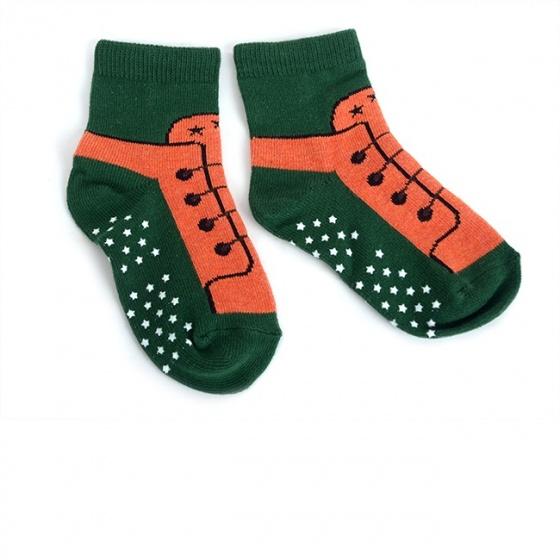 Combo 5 đôi vớ in chống trượt hình giày cho bé trai size M
