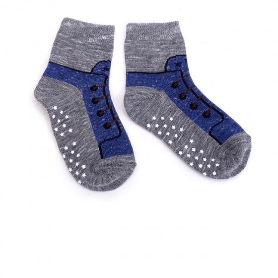 Combo 5 đôi vớ in chống trượt hình giày cho bé trai size S
