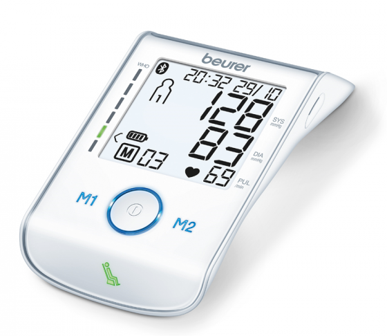 Máy đo huyết áp bắp tay bluetooth 22 - 36 cm (Kèm adaptor) BM85