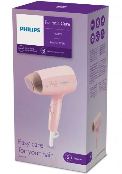 Máy sấy tóc du lịch Philips BHC010 (Hồng) - Hãng phân phối chính thức