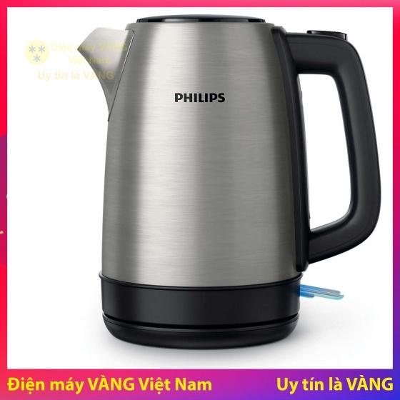 Ấm đun siêu tốc Philips HD9350 (Bạc) - Hàng nhập khẩu