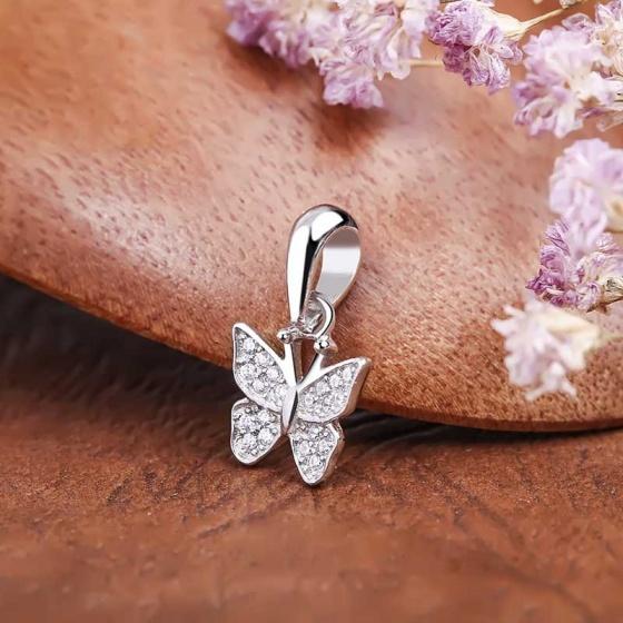 Mặt dây chuyền bạc Daniella Butterfly